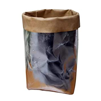 Amazon.com: Becoler Kraft bolsas de papel metálico lavable ...