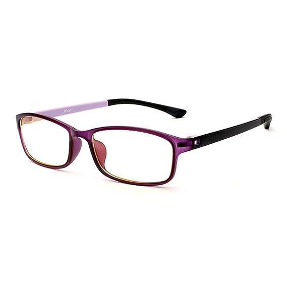 c38ce71082 Forepin Unisex Monturas de gafas Rectangulares para Mujeres y Hombre reg;  Gafas de Vista Lente Transparente Gafas Retro Vintage Visión Clara -  púrpura: ...