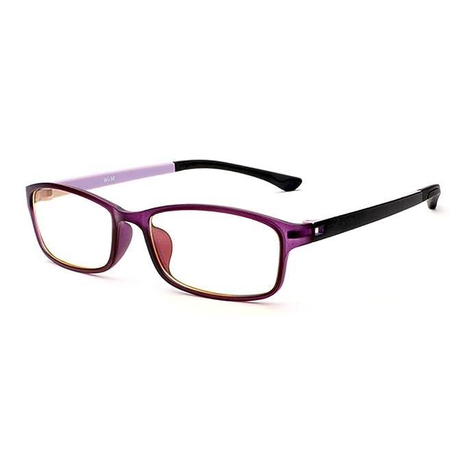 e996f9acce31 Forepin Unisex Monturas de gafas Rectangulares para Mujeres y Hombre reg   Gafas de Vista Lente Transparente Gafas Retro Vintage Visión Clara -  púrpura  ...