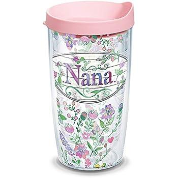 Amazon.com: Tervis 1.43 oz. Nana Dainty - Vaso con tapa ...
