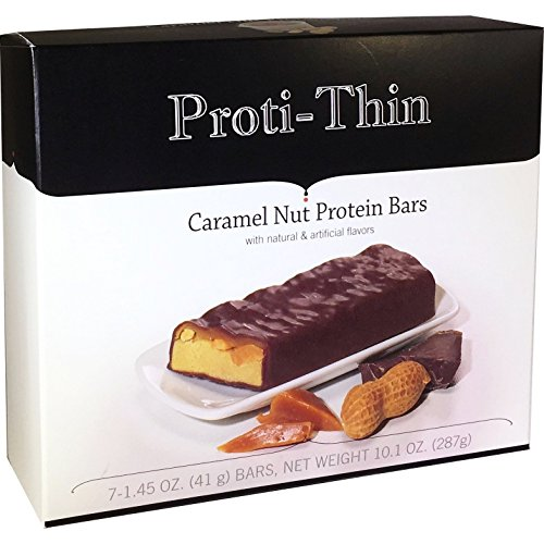Proti-Thin - Caramel Nut Protein Bar - 15g Protein - Low Calorie - Low Fat - Diet Bar (7/Box)