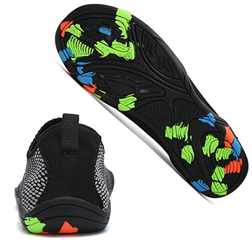 On Shoes Barefoot Boating Walking Black Beach BIGU Shoes for Yoga Mens Water Womens Unisex Quick Skin Park Slip Silver for Shoes Snorkeling Socks Shoes Aqua Drying Sports Swimming 4ggI7wFq6