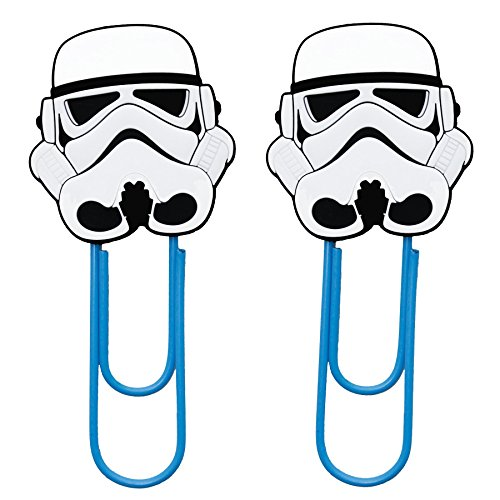 DIYJewelryDepot Stormtrooper Star Wars Force Awakens Storm Trooper Bookmark Paper Clips School