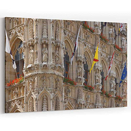 City Hall in Leuven Canvas Art Wall Dector,Belgium 36