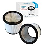 HQRP Cartridge Filter 2-Pack for Shop-Vac 90350 Vacuum Cleaner + HQRP Coaster