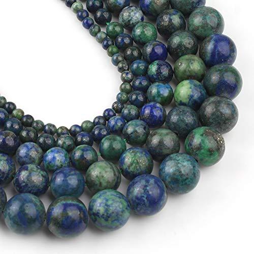 Yochus 6mm Lapis Chrysocolla Gemstone Phoenix Lapis Lazuli Malachite Round Loose Beads Natural Stone Beads for Jewelry Making