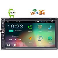 Android 6.0 Double Din Car Stereo GPS with Quad Core 6.95 inch Touchscreen Autoradio Car DVD Player 1GB RAM 3D GPS Map Head unit support Bluetooth Wifi 3G OBD DAB+ USB/SD
