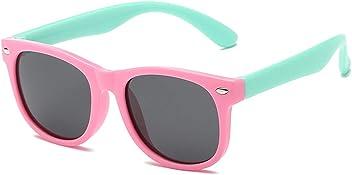 1f364a7858 DOMICARE Kids Polarized Sunglasses Rubber Flexible Wayfarer Frame For Boys  and Girls Age 3-10