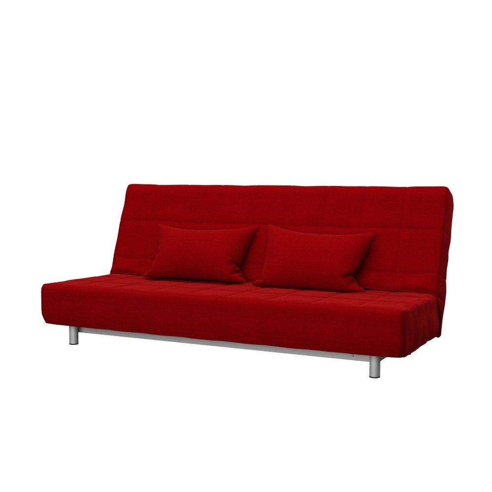 Soferia - Bezug fur IKEA BEDDINGE 3-er Bettsofa, Elegance ROT