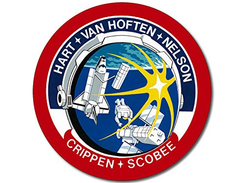 American Vinyl Round Space Shuttle Mission STS 41c Sticker (Challenger NASA Logo Insignia Patch Design)
