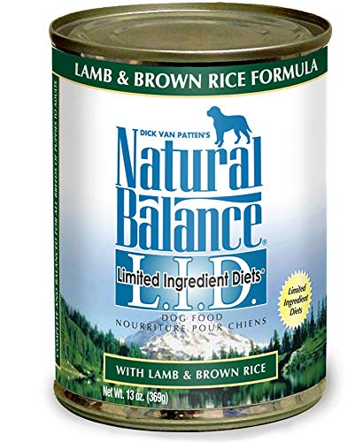 Natural Balance Limited Ingredient Diets Lamb Brown Rice Formula Canned Dog Food, Case of 12