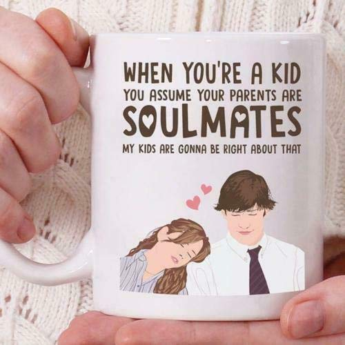 The Office Jim And Pam I Love U White Coffee Tea Mug - Mug White Mug Cup 11OZ Gift -