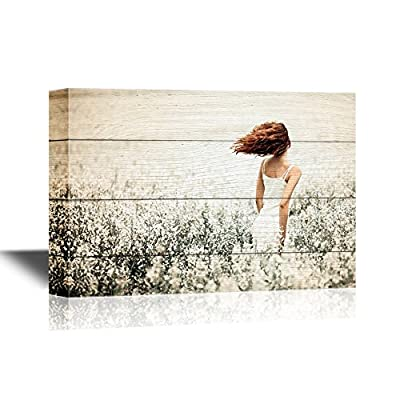 Dazzling Piece of Art, Young Beautiful Girl in The Field, Made to Last