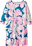 Lilly Pulitzer Kids Girl's UPF 50+ Mini Sophie Dress (Little Kids/Big Kids) Tidal Wave Pans Garden X-Large