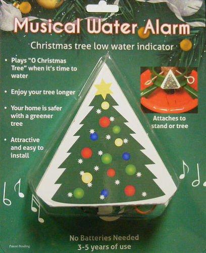 christmas tree musical water level alarm