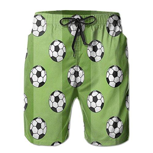 訪問危険引数サッカー 紳士のファッションと快適のビーチショーツ スイムショーツ メッシュインナー 通気 速乾 ビーチズボン 海水パンツ ショートパンツ