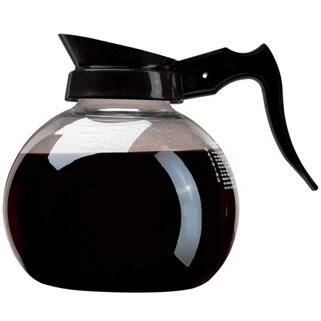 Acquisto Caffettiera Decanter/Caraffa Nero Regular – New Glass Design Shape – Impugnatura ergonomica – capacità 15 Tazze Prezzi offerta