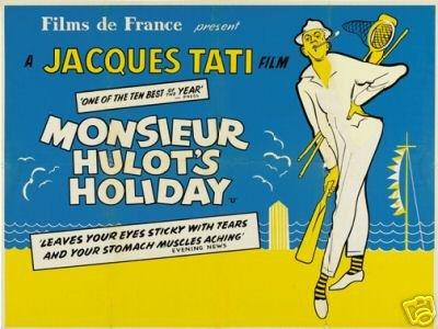 Mr. Hulot's Holiday Movie Poster Jacques Tati Vintage