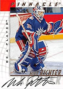 Mike Richter autographed hockey card (New York Rangers SC) 1998 Pinnacle #37 Be A Player