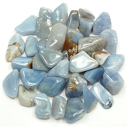 Tumbled Blue Chalcedony (Mostly 5/8