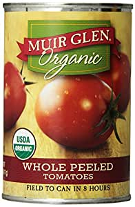 Muir Glen Organic Tomatoes, Whole Peeled, 14.5-Ounce Cans (Pack of 12)