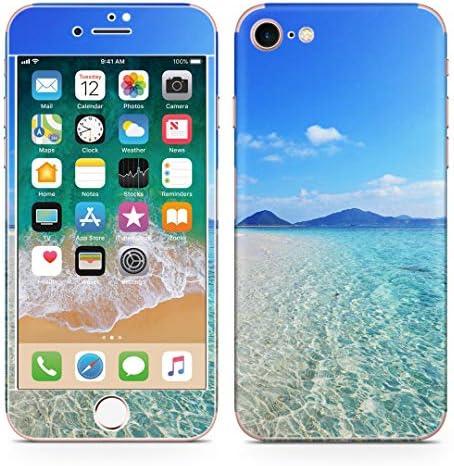 igsticker iPhone SE 2020 iPhone8 iPhone7 専用 スキンシール 全面スキンシール フル 背面 側面 正面 液晶 ステッカー 保護シール 011362 海 ビーチ 夏