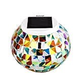 Kaleep Bright Solar Lawn Light Solar Lawn Lamp Mosaic Glass Ball Garden Lights Waterproof Outdoor Light Decorationsfor Christmas The Best Choice