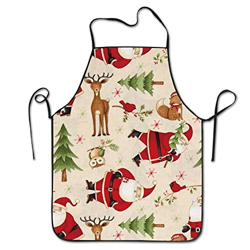 Zoot Suit Pattern (Santa And Friends Santa Woodland Cooking Aprons Chef Apron For Women Men Girl Kids Gifts Kitchen Decorations)