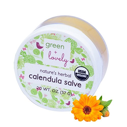 ndula Salve, Calendula Cream, USDA Certified Organic. Multipurpose Ointment, Skin Cream, Lotion, Moisturizer. Sensitive Skin Formula. Eczema & Psoriasis Cream. (2 oz) (Unscented) ()