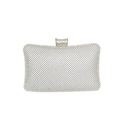 Pillow Pranzo Da end Pillow Ms Borse Silver Clutch Lussuoso YXLONG Da Strass Silver High Sacchetto Sera Bag Bag wz1BqB68