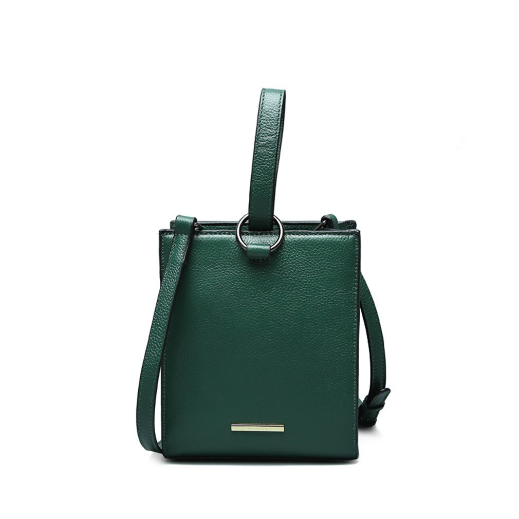 Handbags Women Messenger Bag Small Shoulder Crossbody Bags Round Ring Newest Tote Green 170x205x105mm