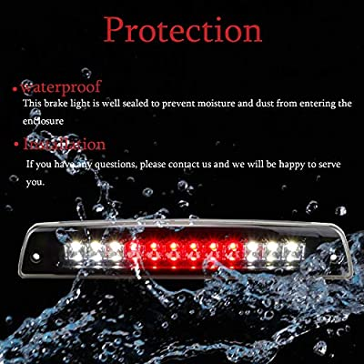 LED 3rd Third High Mount Brake Light Cargo Lamp for 1994-2001 Dodge Ram 1500 2500 3500 Electroplating Housing Smoke Lens: Automotive