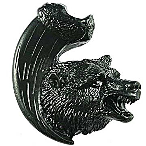 Sierra Lifestyles Bear with Claw Knob, Right Facing, Black ()