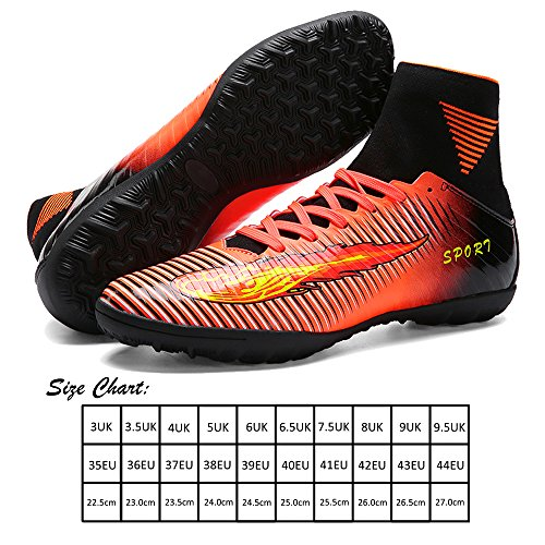 De violet Top Orange Football tf Crampons Homme orange vert Akali Chaussures High xwFUR6nIqp