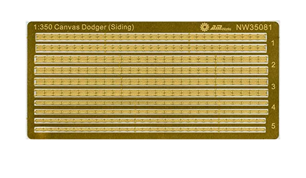 PE #NW35081 Alliance Model Works 1:350 Canvas Dodger Fabric Covered Railing