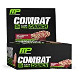 MusclePharm Combat Crunch Protein Bar, White Chocolate Raspberry, 12 Bars