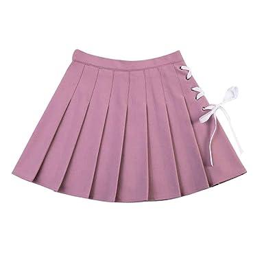 irene inevent - Mini Falda Plisada con Lazo para Mujer y niña ...