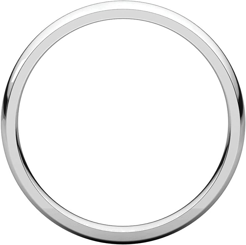 03.00 mm Light Comfort-Fit Wedding Band Ring in 14k White Gold Size 6