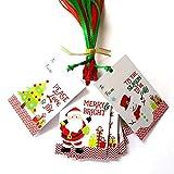 Christmas Gift Tags - Santa Claus, Jolly Snowman and Christmas Tree Holiday Tags - Set of 24
