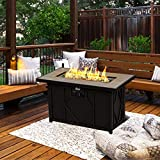 BALI OUTDOORS Fire Pit Propane Gas FirePit Table