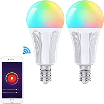 WiFi LED Multi-Color Smart Light Compatible with Alexa and Google Assistant Smart Bulb Warm//Soft White No Hub Required 2-Pack