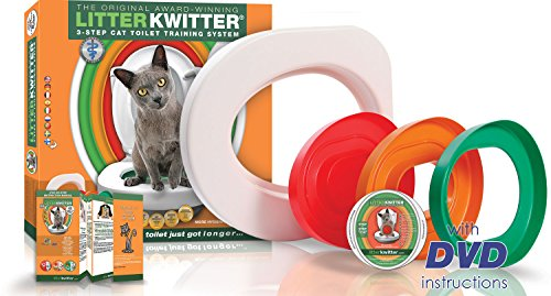 Cat Toilet Training System By Litter Kwitter - Teach Your Cat to Use the Toilet - With Instructional - Litter Kwitter Toilet Training