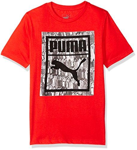Scarlet Kids Shirt (PUMA Big Boys' Graphic Tee, Flame Scarlet, X-Large (18/20))