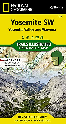 Yosemite SW: Yosemite Valley and Wawona (National Geographic Trails Illustrated Map)