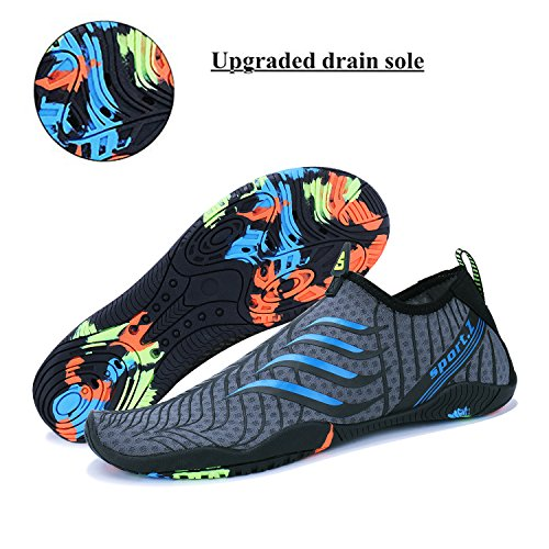 2 blue Women Men Socks Shoes WYSBAOSHU Athletic Aqua Barefoot Water 8v6qznx