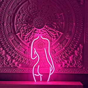 "Lady Back LED Neon Sign Lights Art Wall Decorative Lights10.4""x19.6"" (SexyLady-Pink)"