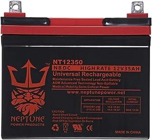 VMAXTANKS VMAX V35-857 12 Volt 35AH Battery Marine Deep Cycle Replacement Battery by Neptun ideal for boats and 18-35lb minn kota, minnkota, cobra sevylor and other trolling motor (12V 35AH, GROUP U1)