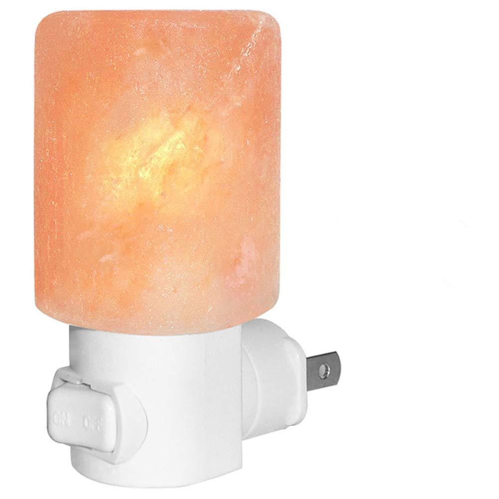 Venhoo Mini Hand Carved Himalayan Salt Lamp Natural Crystal Salt Rock Nursery Wall Night Light Plug In Nightlight with Incandescent Bulb and Multi LED Color Changing Bulb for Kids Bedroom Bathroom XR-99