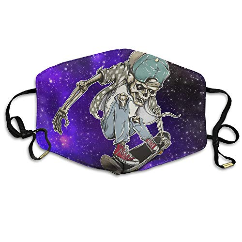Zhenyun Skeleton Riding Skateboard Anti Dust Face Mask,Reusable Warm Windproof Mouth Mask