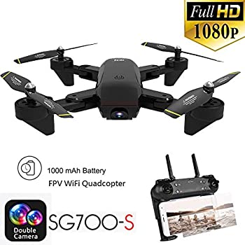 3D Flips Drone with 1080P HD Camera Live Video Headless Mode,Trajectory Flight,Altitude Hold RC Helicopter 1